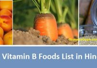Vitamin B foods list in Hindi